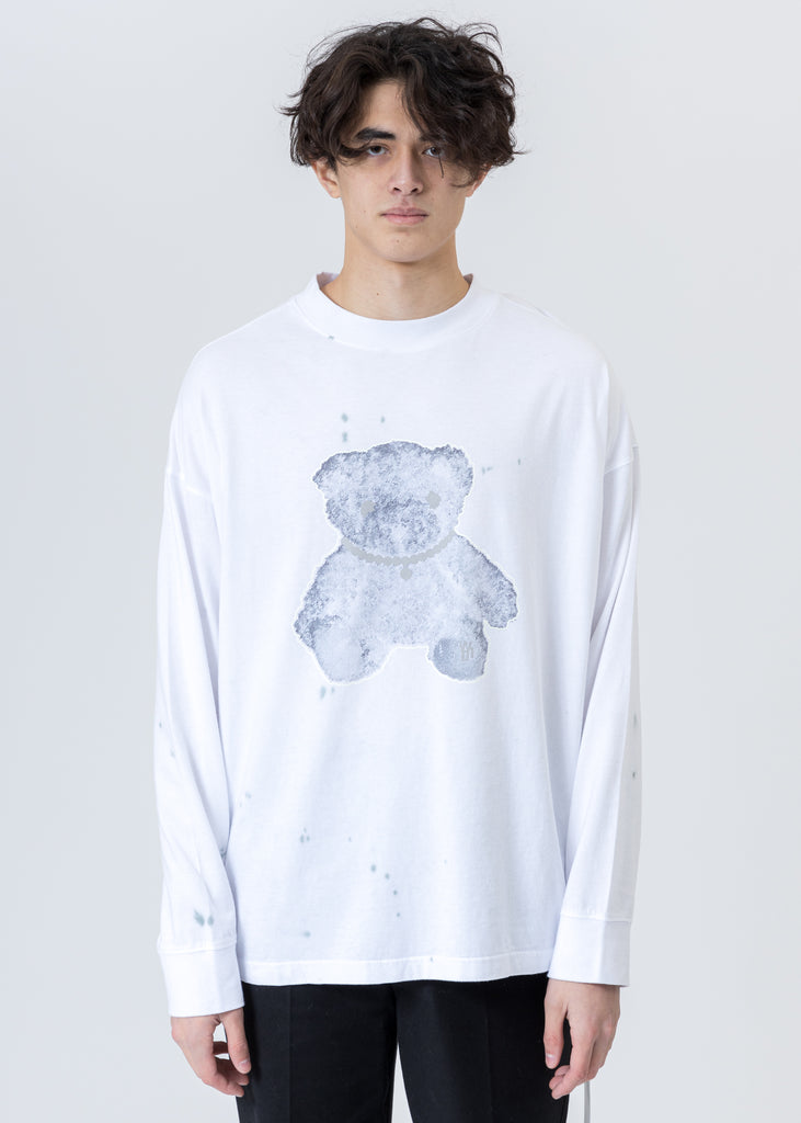 White Pearl Necklace Teddy Long Sleeve (Reflect)