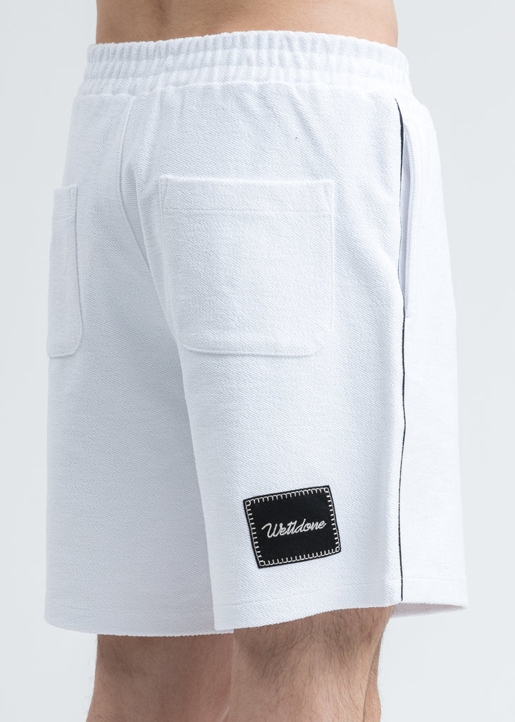 White Zurry Pajama Shorts