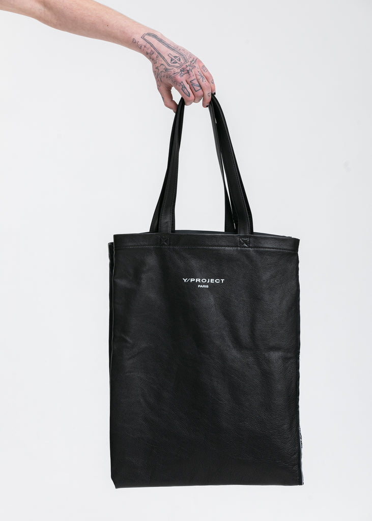 Black Scarf Print Tote Bag