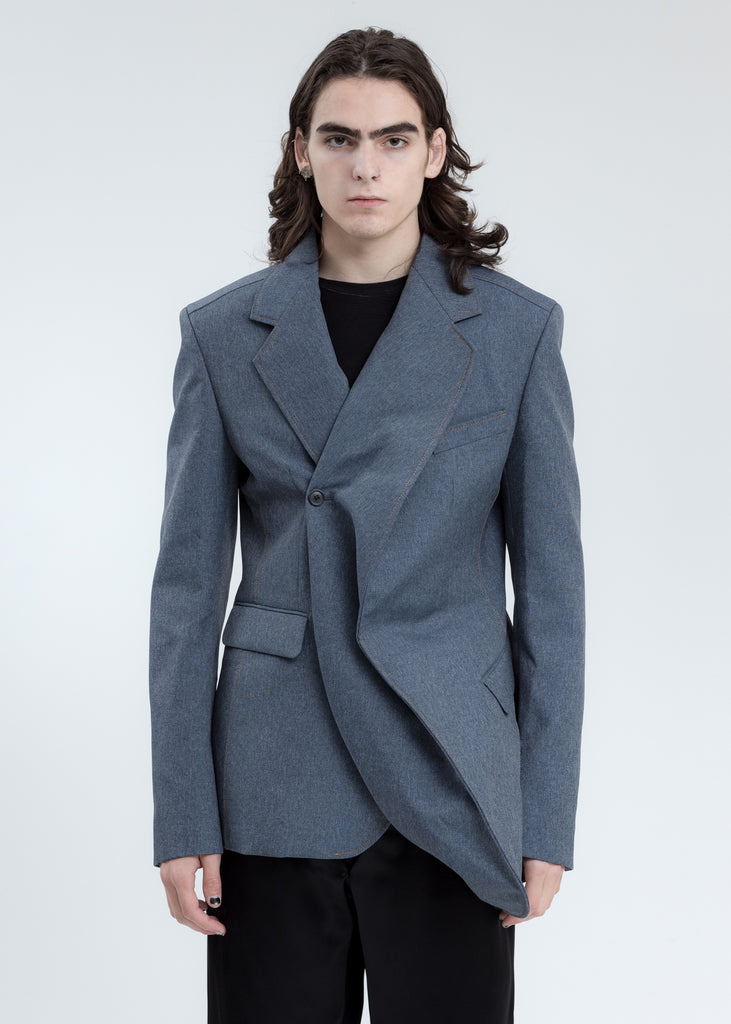 Grey Twisted Blazer
