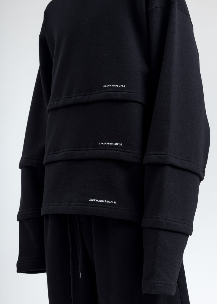 Black Triple Layer Sweatshirt