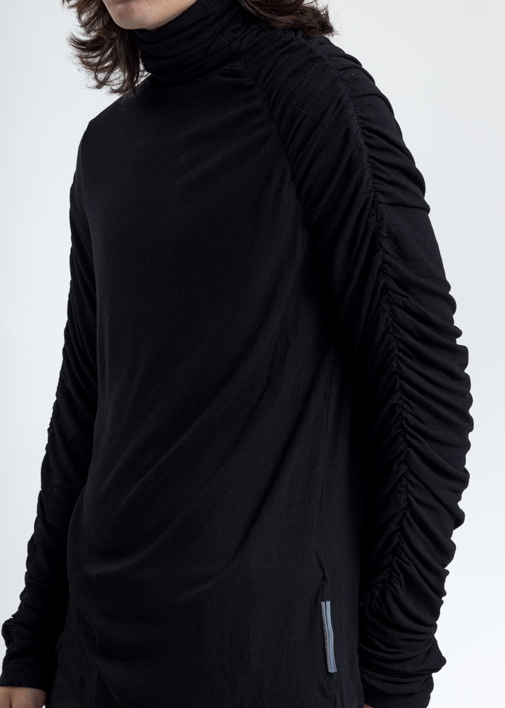 Black Twisted Turtleneck