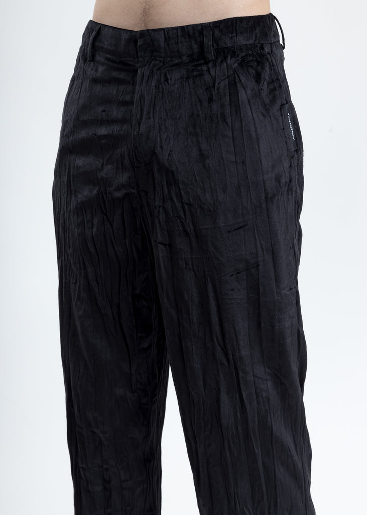 Black Velvet Pajama Pants
