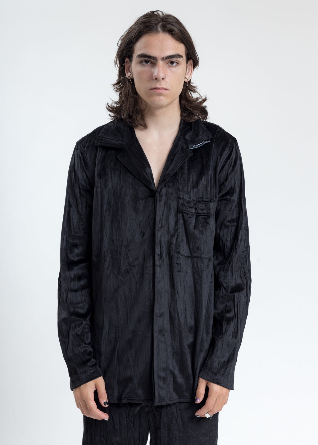 Black Velvet Pajama Shirt