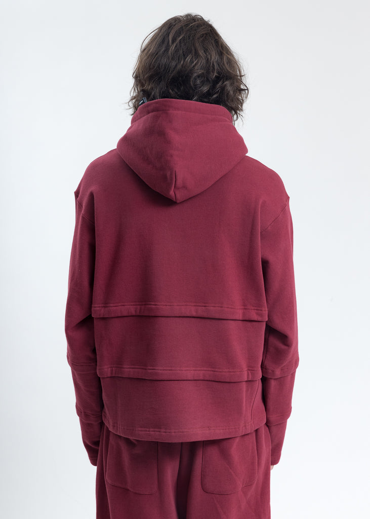 Burgundy Triple Layer Hoodies