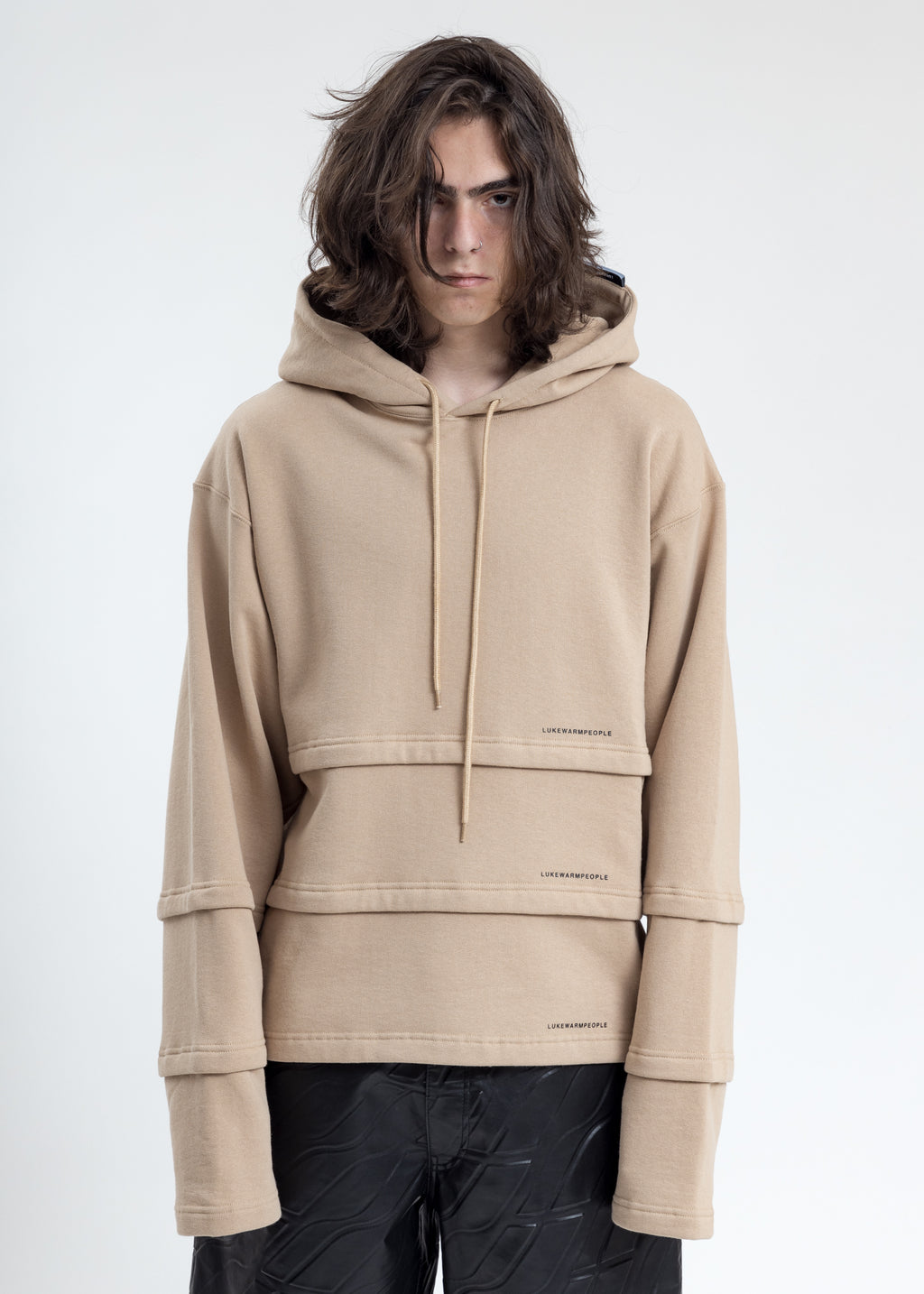 Khaki Triple Layer Hoodies