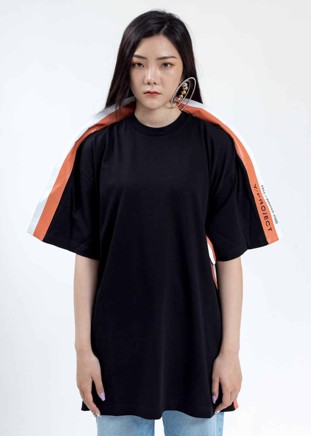 Black Wing Panel T-Shirt