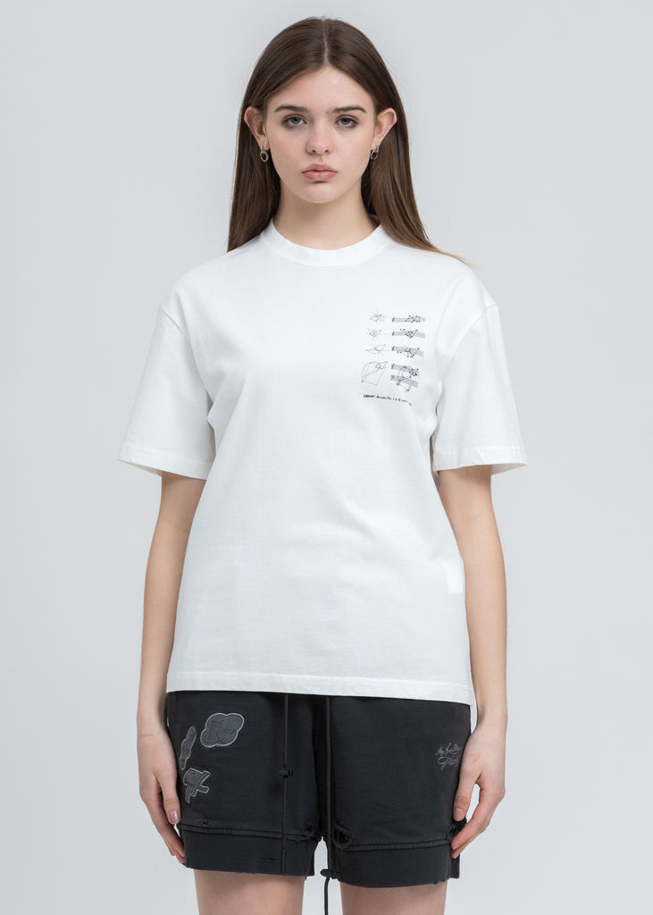 "White ""Score Of The Planet"" T-Shirt"
