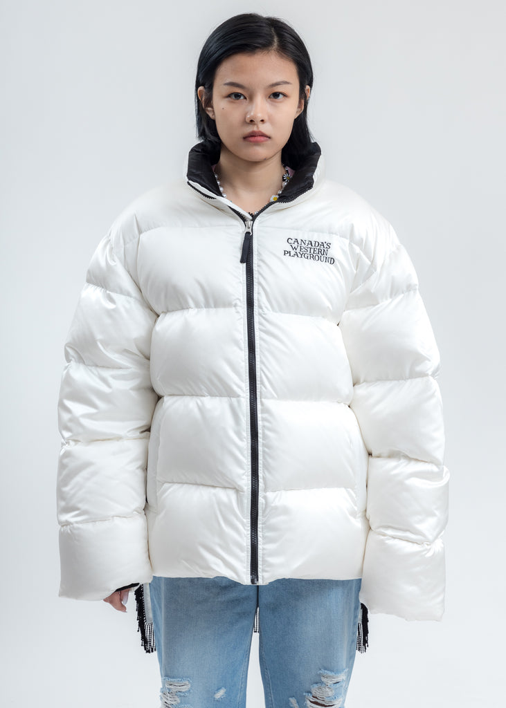 White Pillow Packable Down Jacket