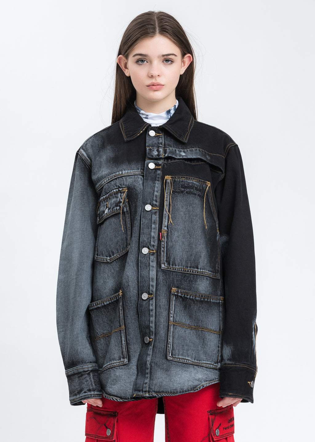 Blue And Black Levi's Edition Denim Oversized Shirt