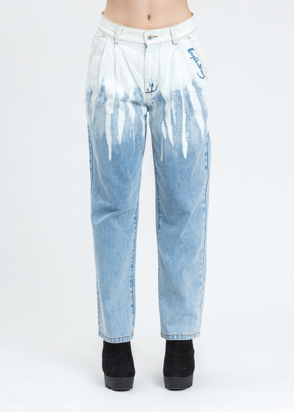 Blue Denim Washed Jeans