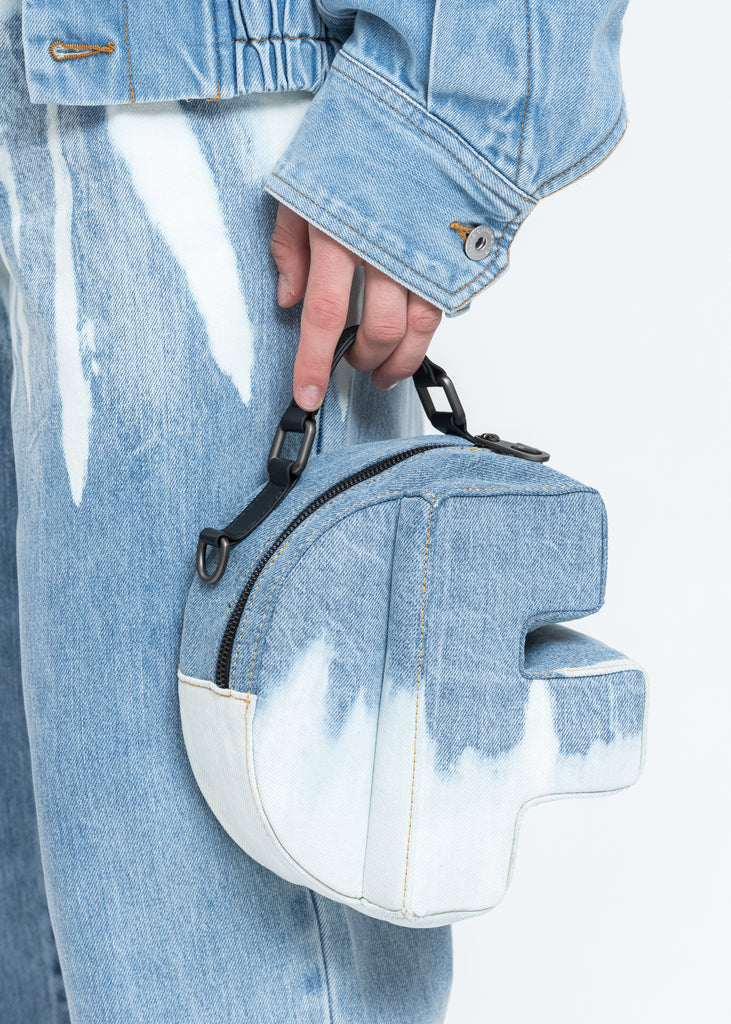 Blue Washed Denim F Bag
