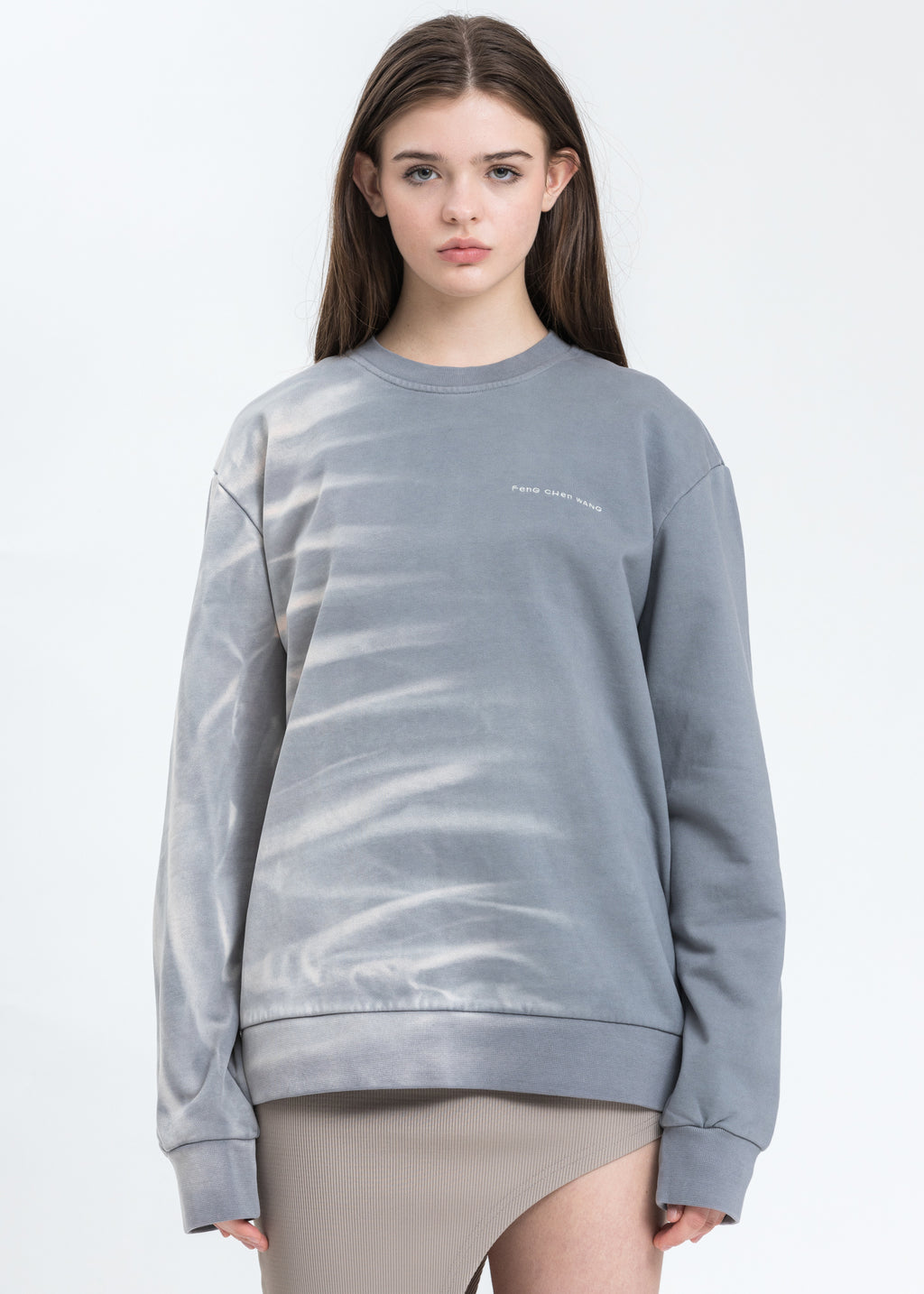 Grey With Gradient Tie Dye Sweatshirt