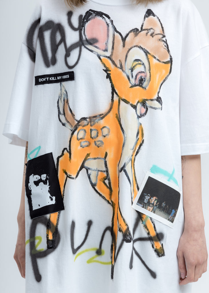 White Paint T-Shirt (Bambi)