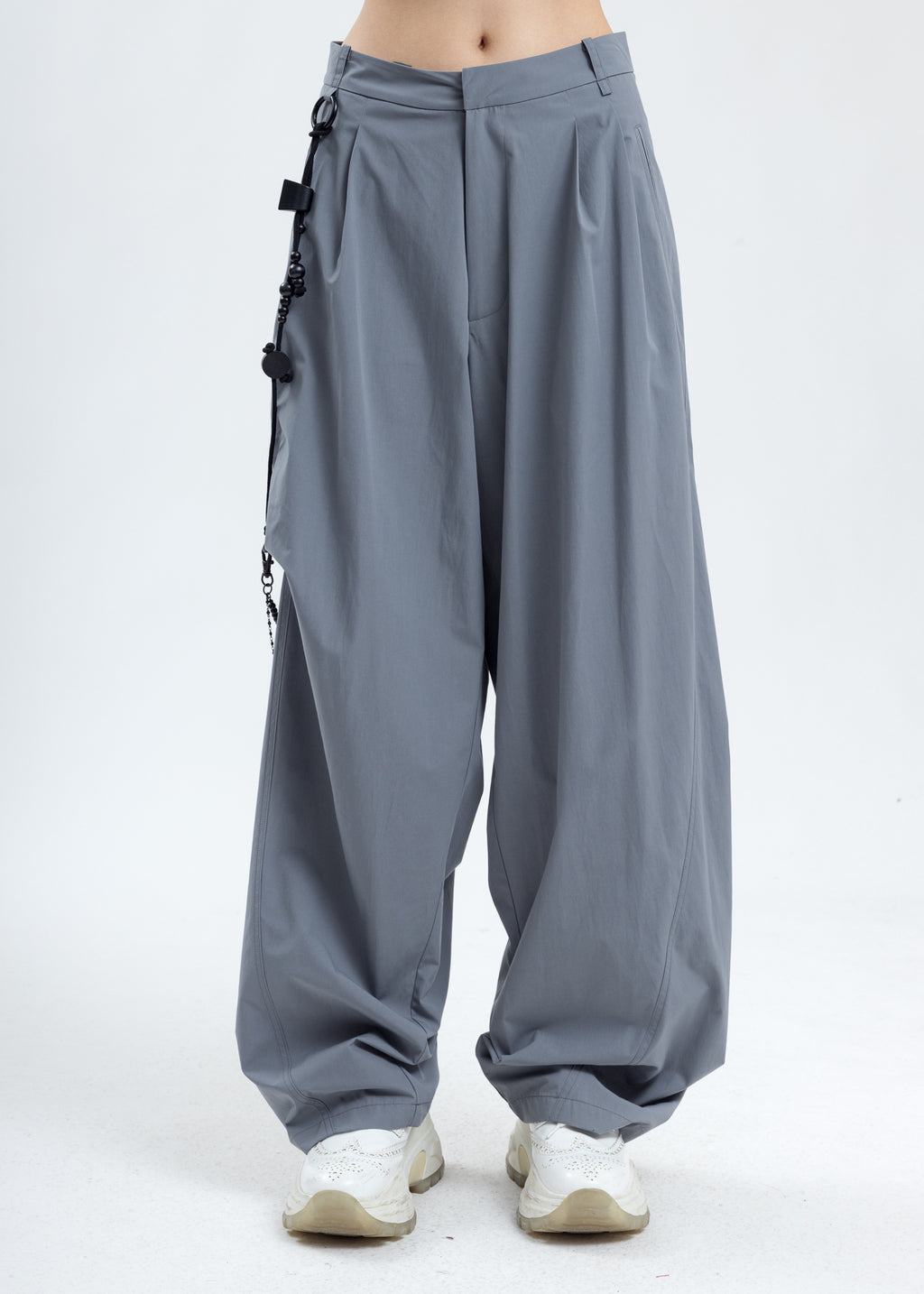 Ash Blue Chained Wide Pants