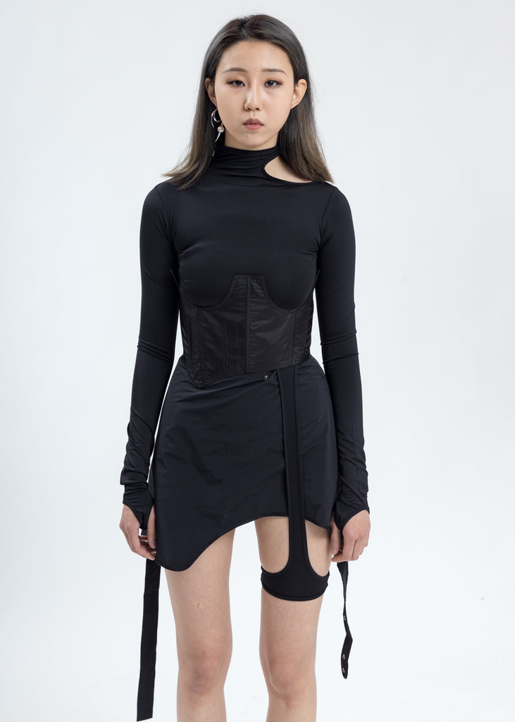 Black Long Sleeve With Corset