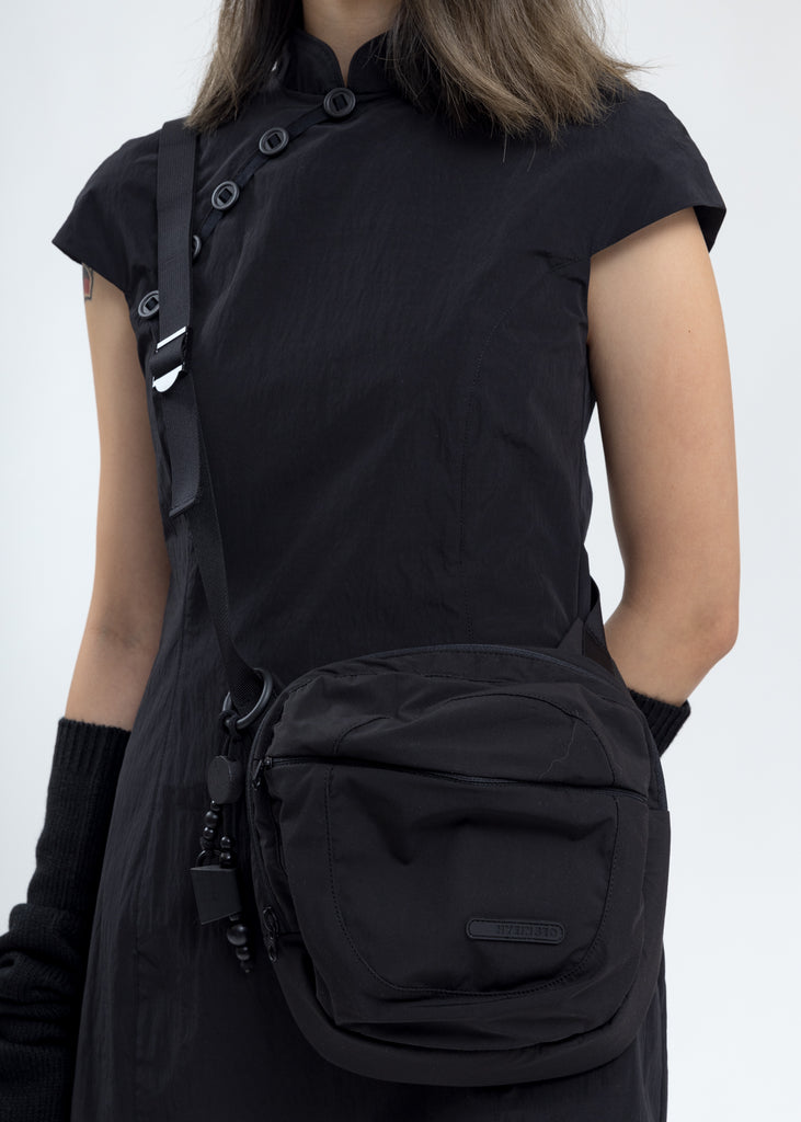 Black Qipao With Sleeves