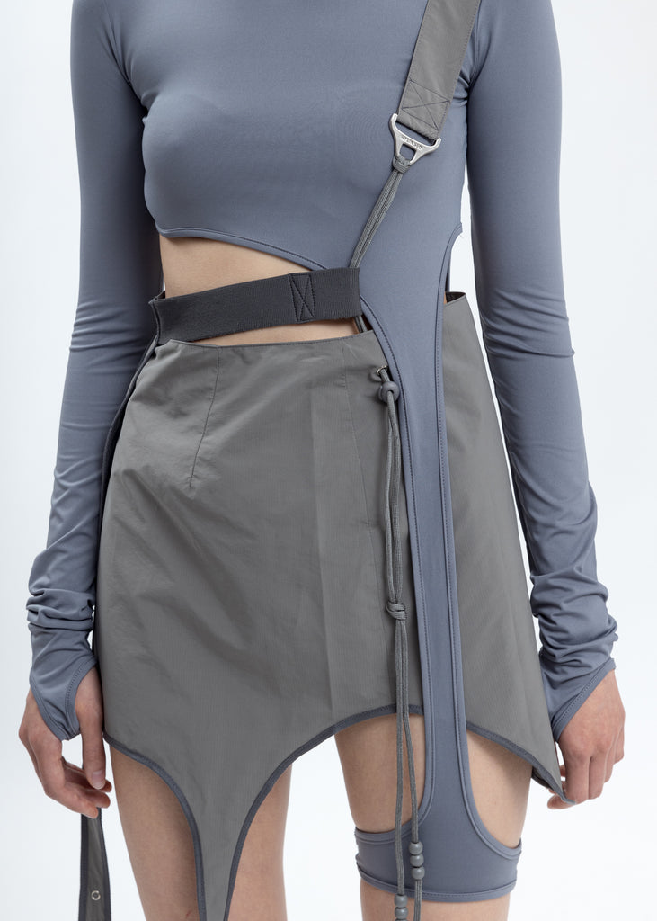 Grey Long Sleeve With Corset