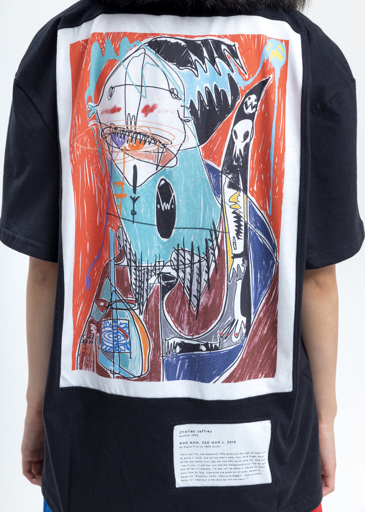 Black Loverboy Art Gallery with Embroidery T-Shirt