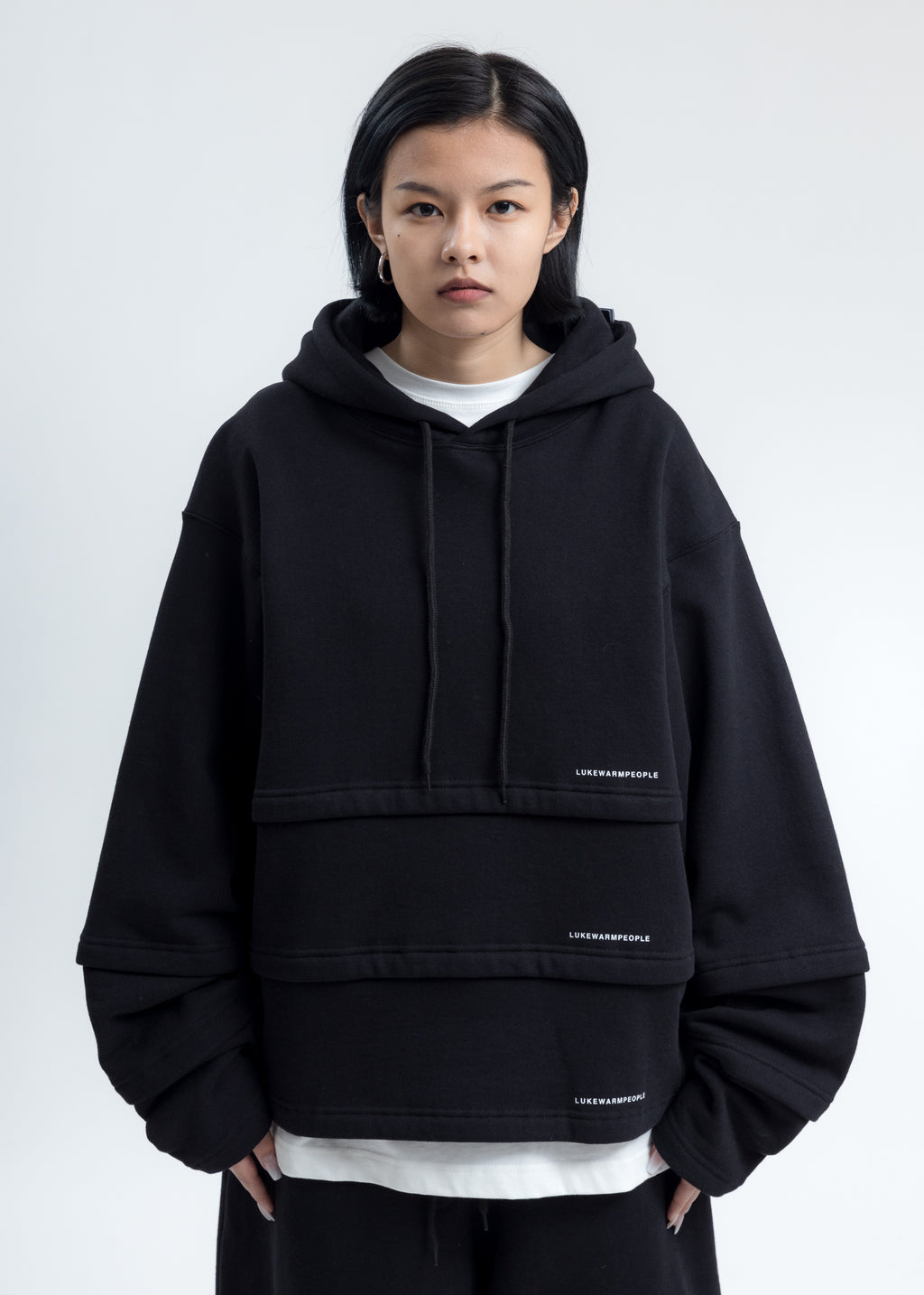 Black Triple Layer Hoodies