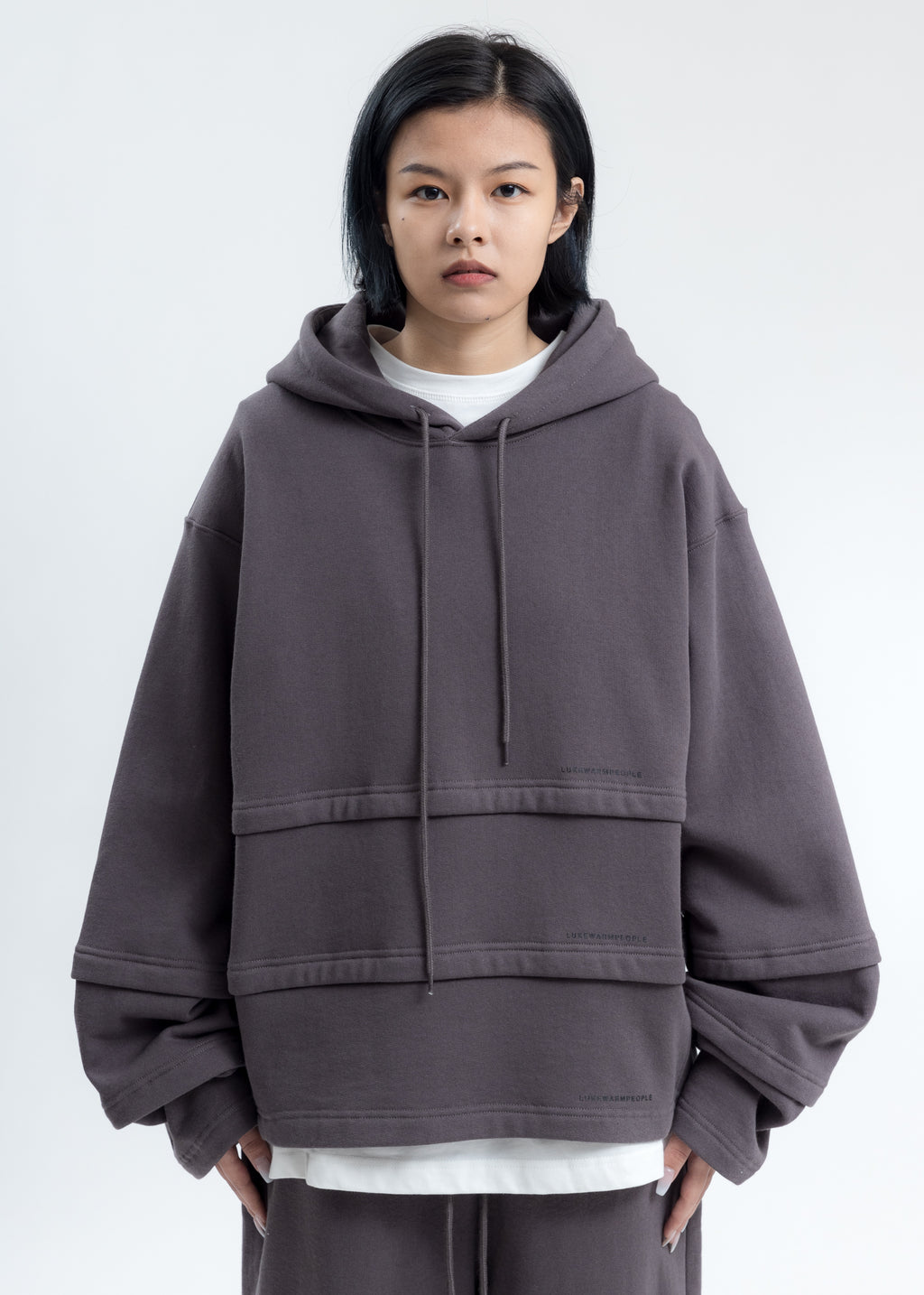 Grey Triple Layer Hoodies