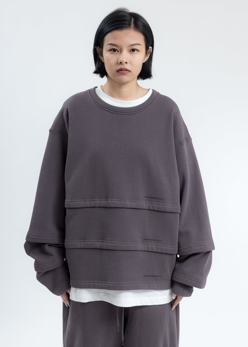 Grey Triple Layer Sweatshirt