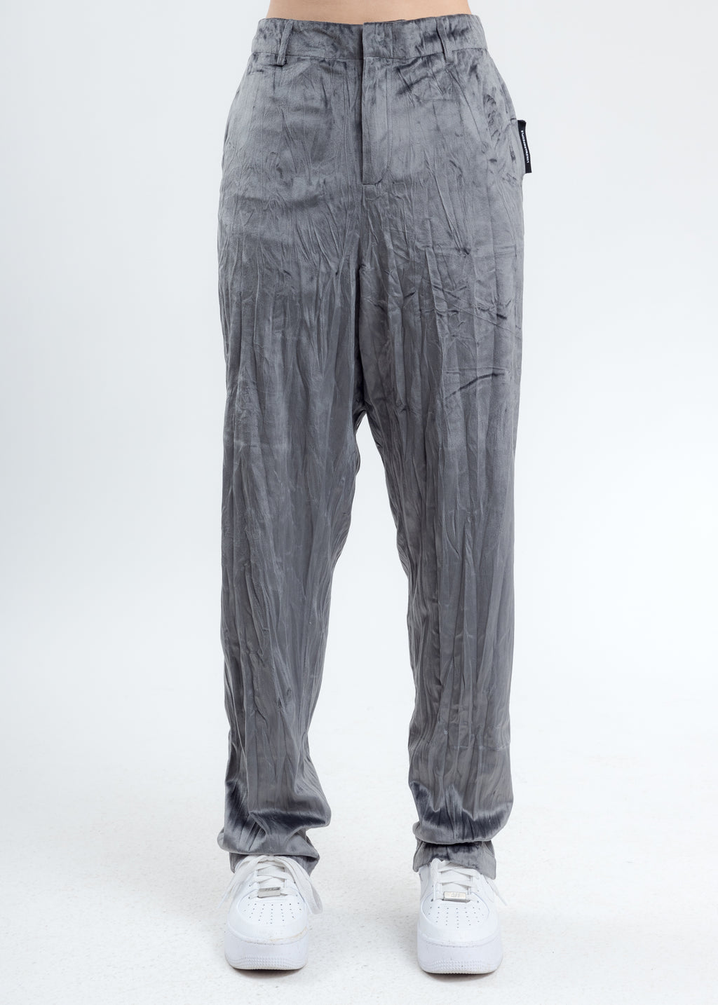 Grey Velvet Pajama Pants