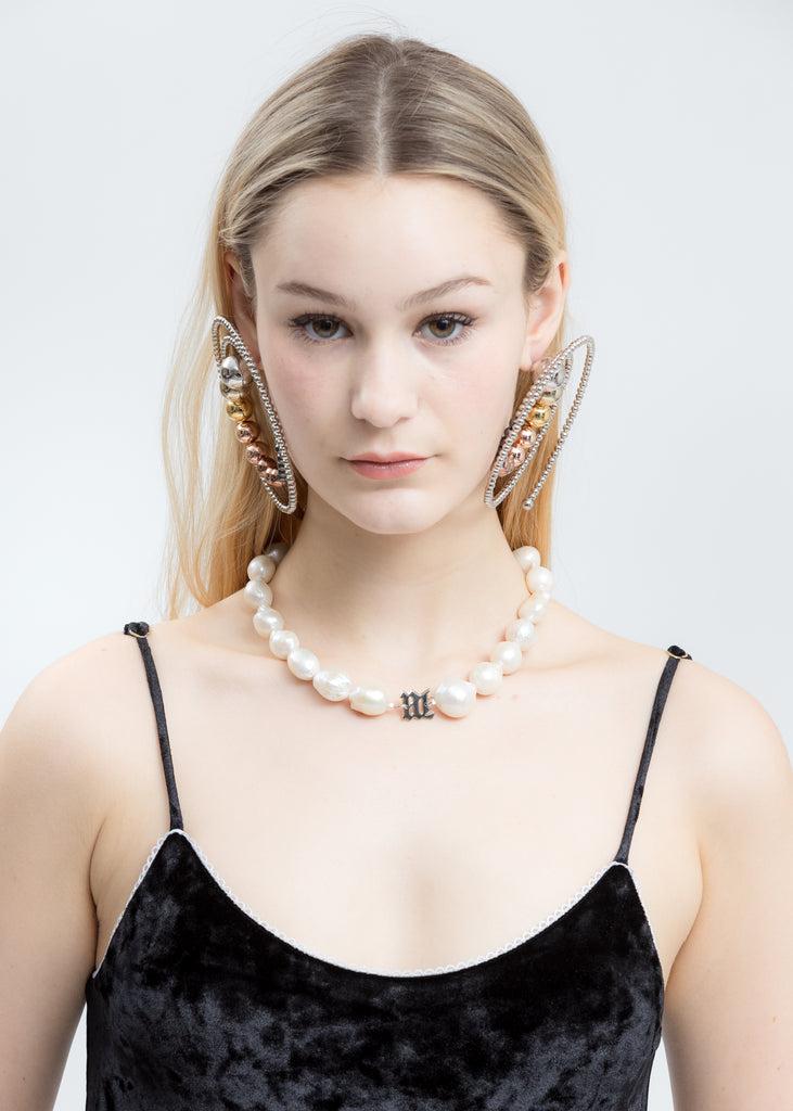 White Full Baroque Pearl Necklace