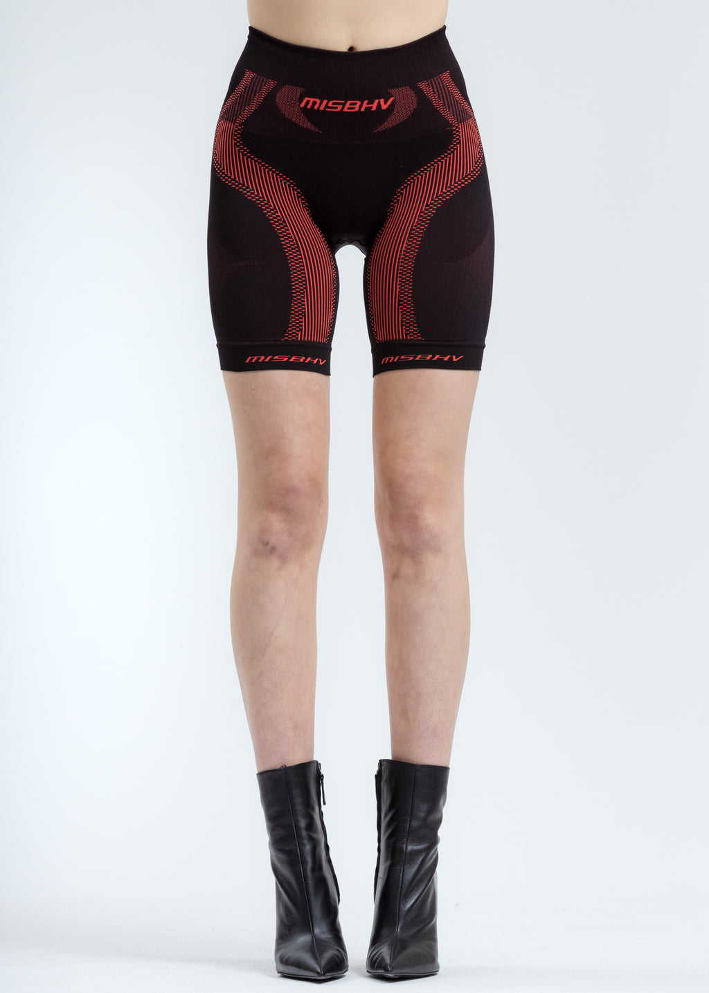 Black & Red Sport Active Shorts