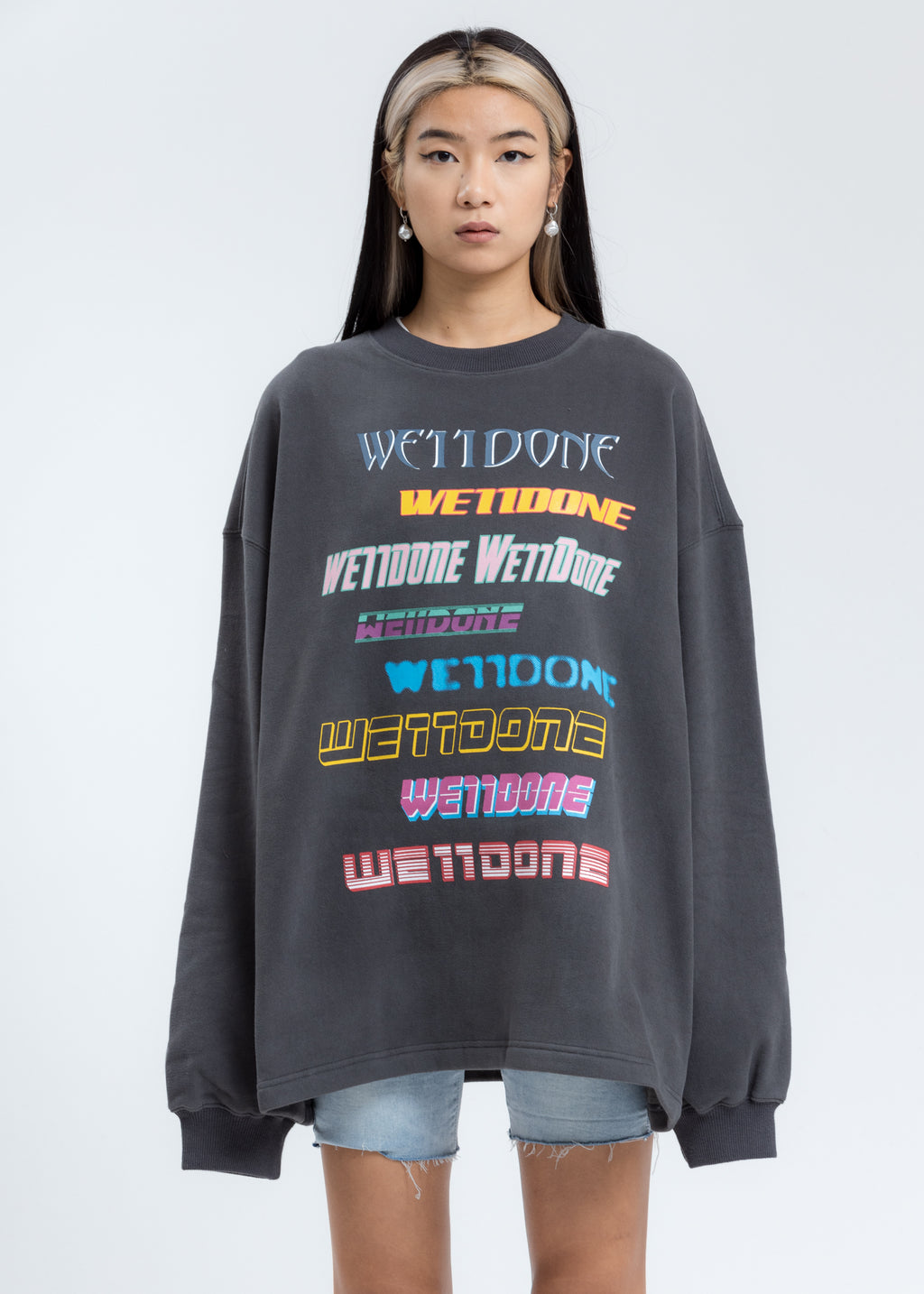 Charcoal Multi Logo Sweatshirt