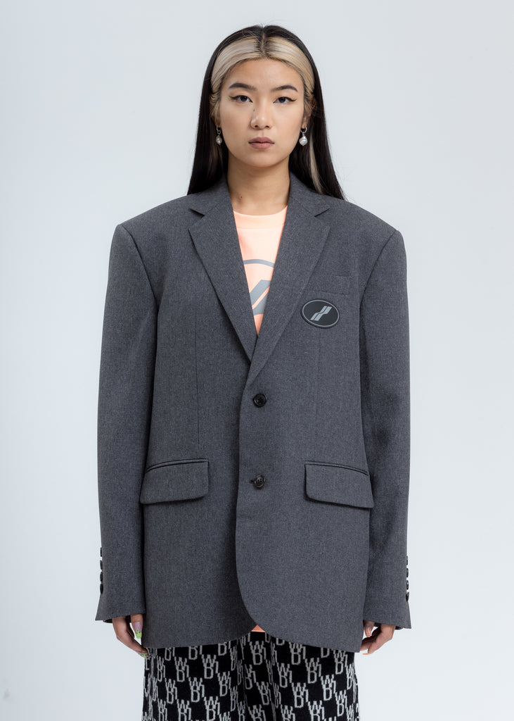 Charcoal Suit Logo Blazer