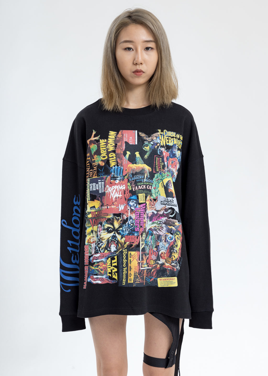 Black Horror Collage Long Sleeves