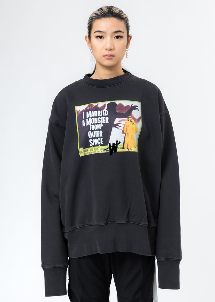 Charcoal Horror Movie Sweater