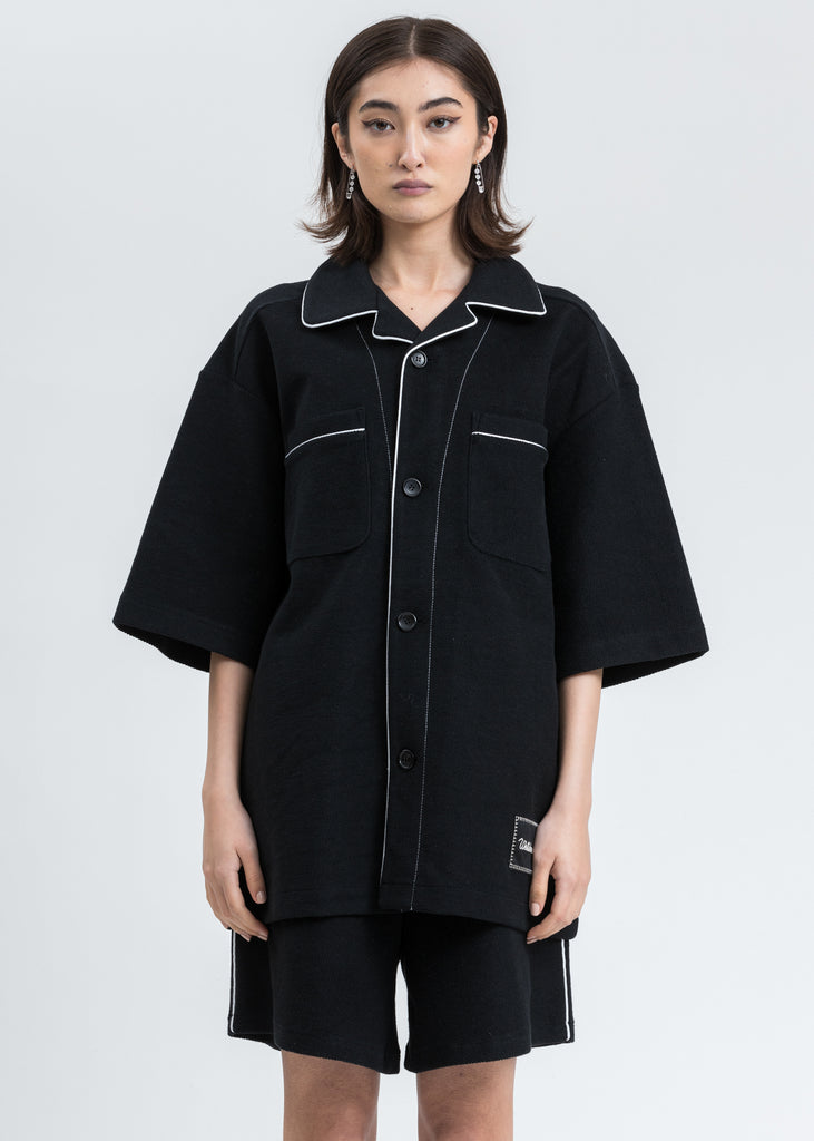 Black Zurry Pyjama Top Short Sleeve