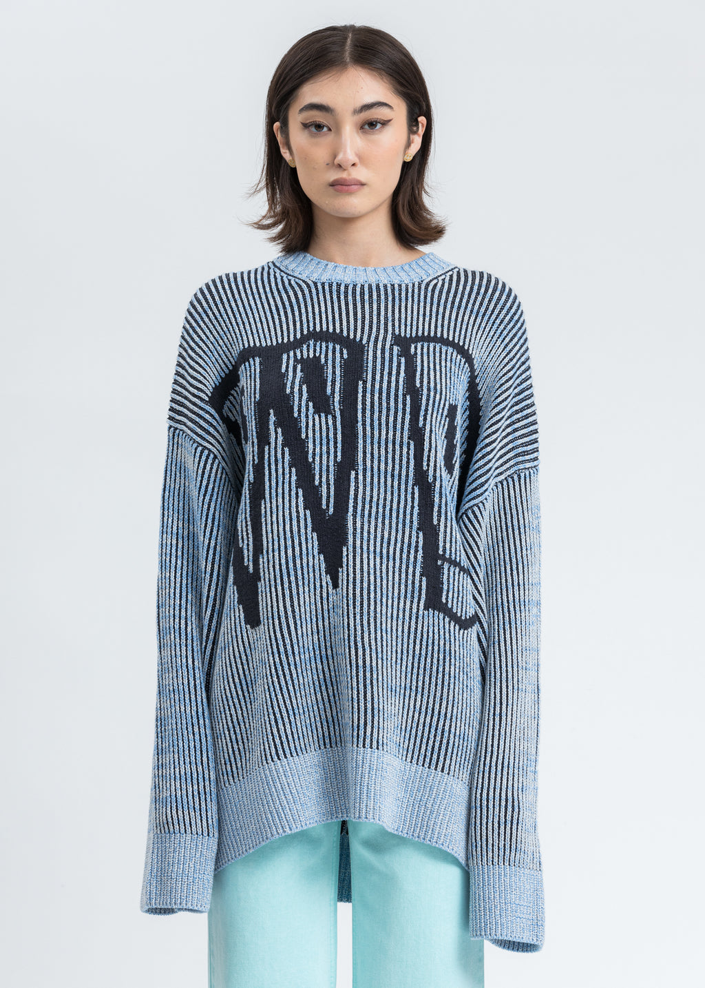 Blue WD Jacquard Sweater