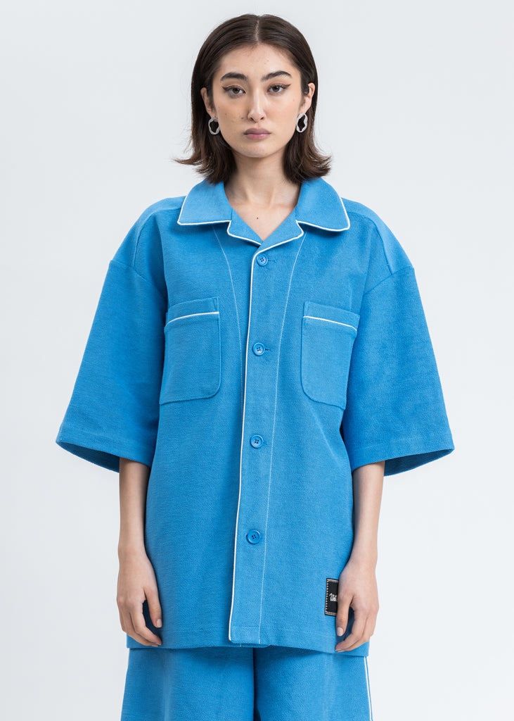 Blue Zurry Pyjama Top Short Sleeve