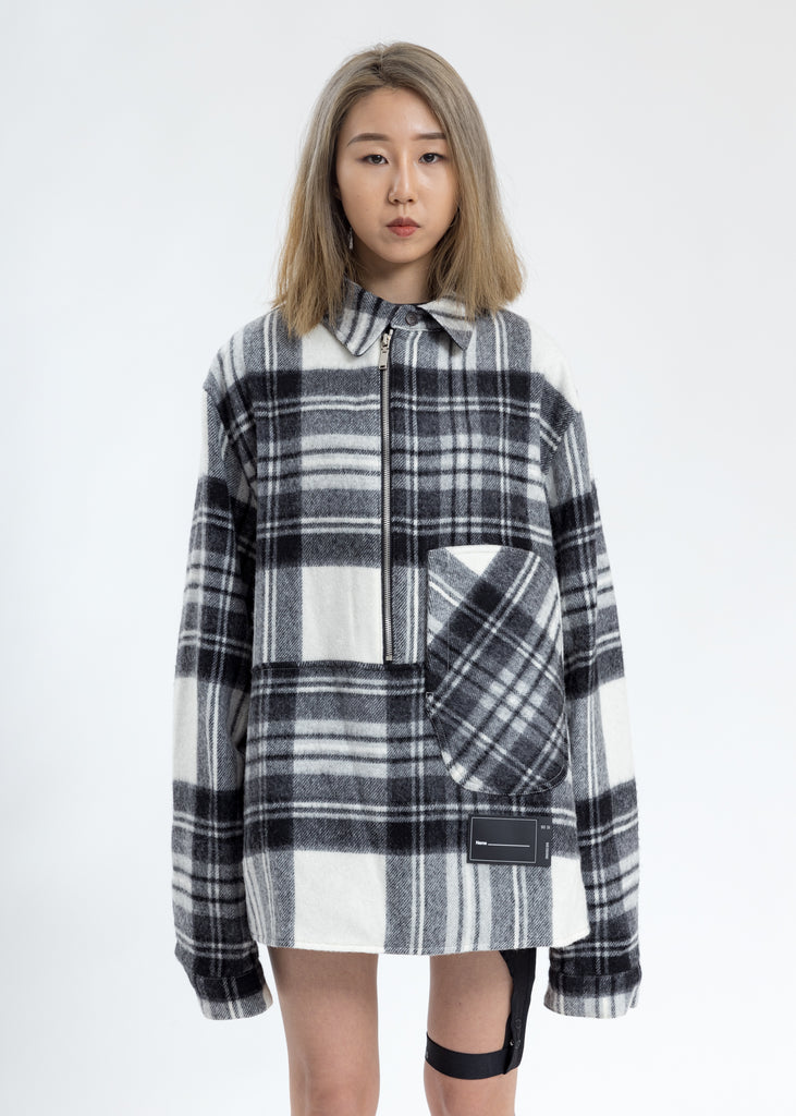 Grey WD English Check Anorak (Pre-Order)