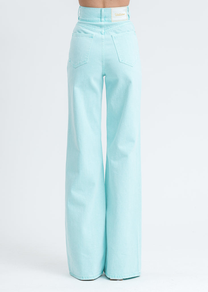 Mint High Waist Long Wide Denim Pants