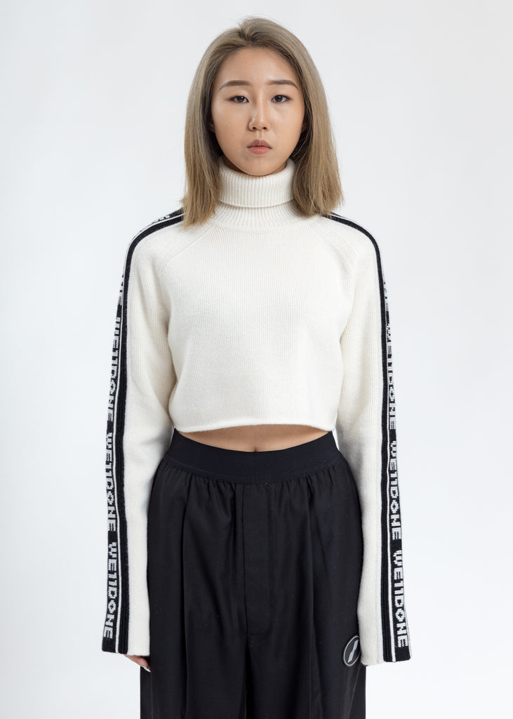 White Side WE11DONE Crop Turtle Neck
