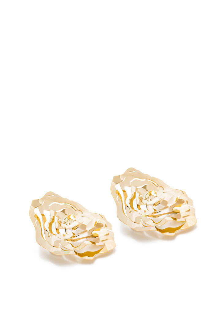 Gold Rose Earring (Single)