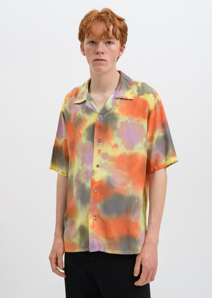 Yellow Hawaiian Tie Dye Shirt