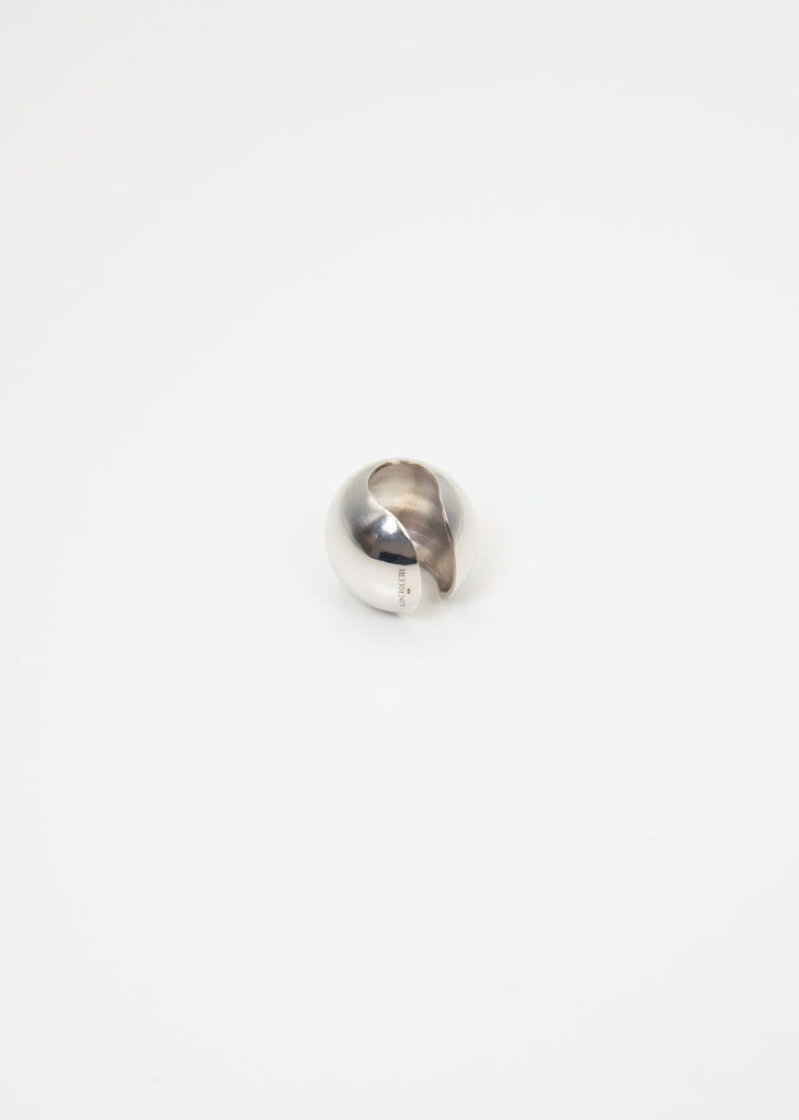 Silver 25 Sphere Ear Cuff