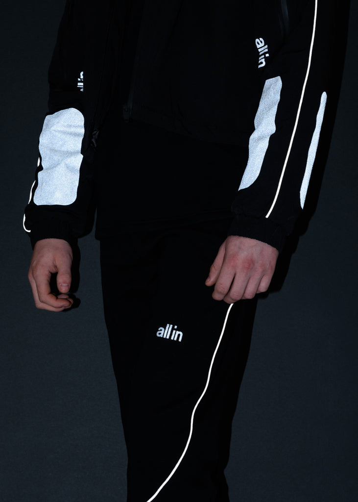 all in, Black Reflective Astro Winter Cropped Jacket, 017 Shop