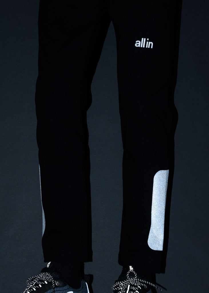 all in, Black Reflective Cold Gust Pants, 017 Shop