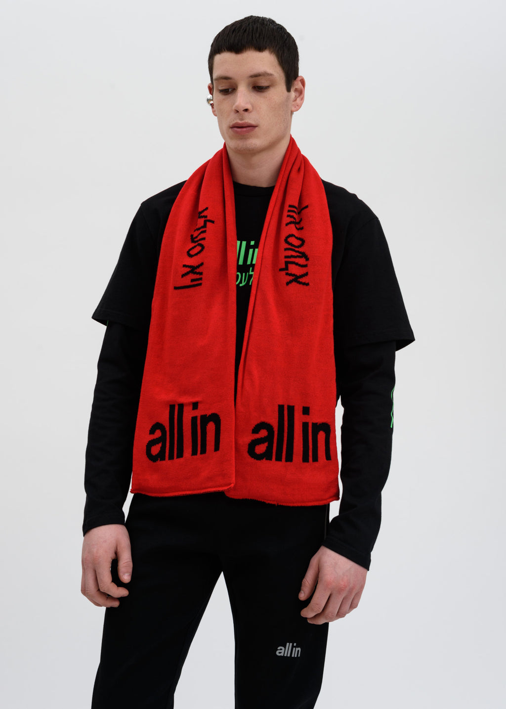 Red Yiddish Scarf