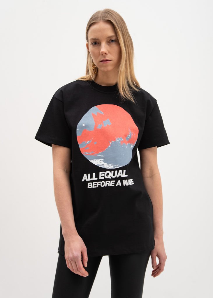 Black All Equal Fitted T-Shirt