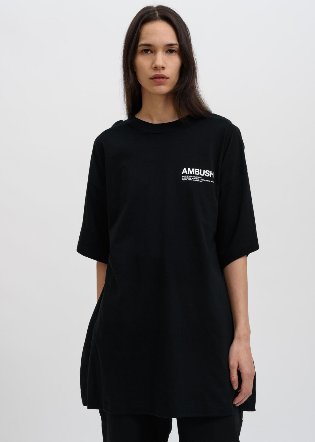 Ambush, Black Oversized Fin T-Shirt, 017 Shop