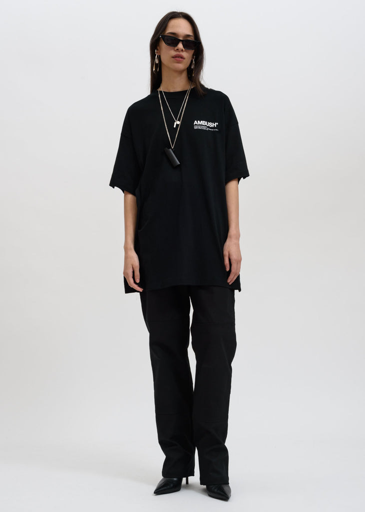 Black Oversized Fin T-Shirt