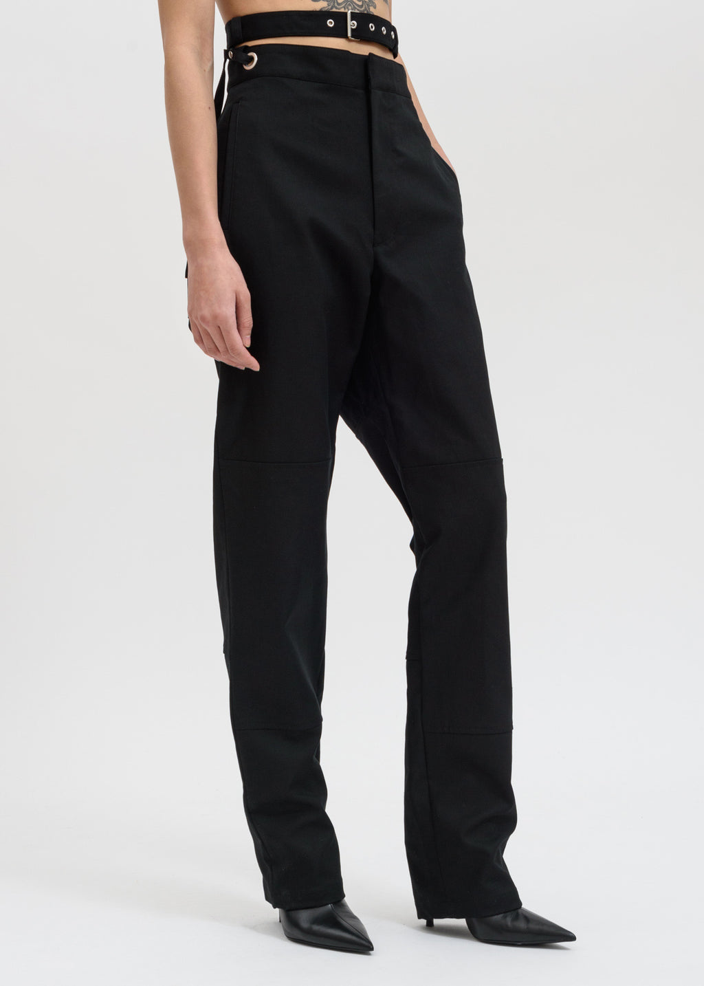 Ambush, Black Waist Strap Pants, 017 Shop
