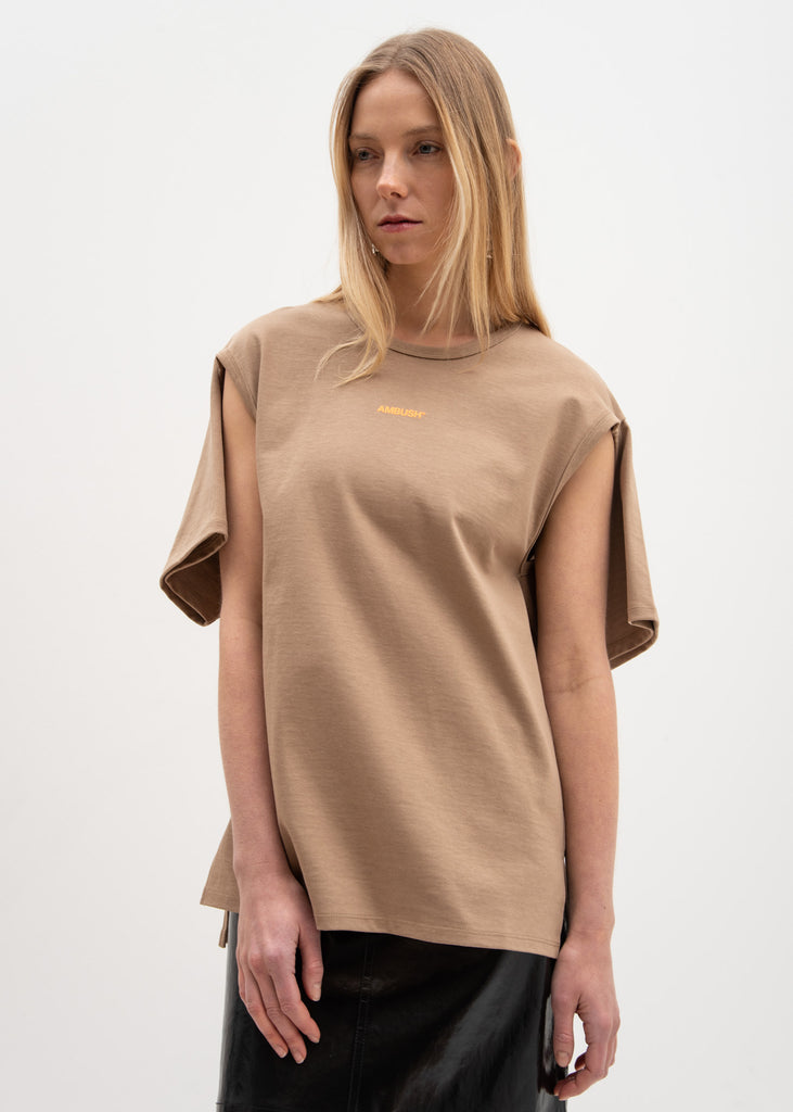 Dark Beige 2Way T-Shirt